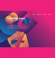 modern landing page and background vector image vector image
