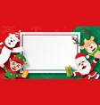 origami paper art christmas postcard blank vector image