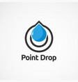 point drop logo icon element and template for vector image