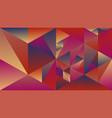 polygonal multicolored gradient mosaic triangular vector image vector image