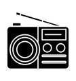 portable radio reciever icon vector image vector image