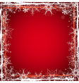 red grunge christmas background vector image vector image