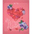 retro valentines card 2 380 vector image vector image