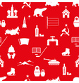 Russia country theme symbols icons seamless vector image vector image