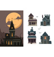 scary houses spooky buildings outdoor village vector image