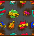 seamless pattern with comic style speech clouds vector image vector image