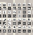 Set of pictograms for cards and city schemes vector image vector image