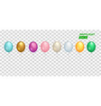 set realistic colorful balloon eps 10 file vector image
