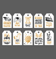 set tags with hand written christmas phrases vector image vector image