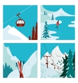 Ski Resort in the mountains vector image vector image