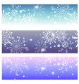 snowflakes on blue background for winter vector image vector image