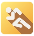 Sport icon with run people in flat style vector image vector image