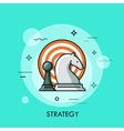 Strategy flat design thin line banner usage for vector image