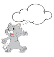 Thinking cat vector image vector image