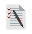 To do list icon flat style vector image
