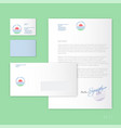 travel agency identity tourism vector image