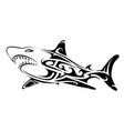 tribal art shark tattoo vector image