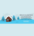 welcome to snow forest banner horizontal concept vector image vector image