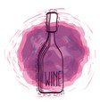 wine bottle doodle vector image