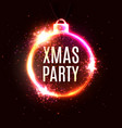 xmas background christmas decoration sign vector image