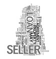 yes the seller can get a new loan text word cloud vector image vector image