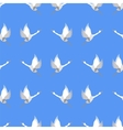 Grey Geese Seamless Pattern vector image