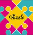 puzzle assembling design vector image