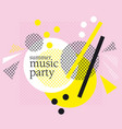 concept modern abstract party poster vector image