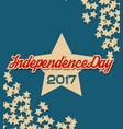usa independence day banner with stars vector image