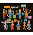 media television or journalism icons set vector image