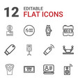 12 electronic icons vector image vector image