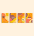 abstract set autumn doodle geometric banners vector image