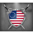American Betsy Ross Flag Medieval Background vector image vector image