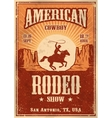 American cowboy rodeo poster vector image vector image