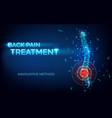 back pain spine treatment innovative method vector image