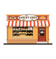 bakery shop front veiw flat icon vector image vector image