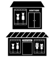 Black icon of boutique vector image
