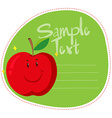 Border design with fresh apple vector image vector image