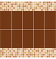 brown and beige ceramic tile mosaic in swimming vector image vector image