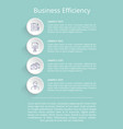 business efficiency poster vector image vector image