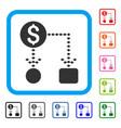 cashflow scheme framed icon vector image vector image
