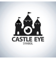 Castle eye symbol icon vector image vector image