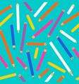 color pencil seamless pattern school supplies vector image vector image