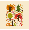 colorful autumn card vector image
