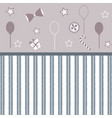 cute girlish frame with balloons bows gift button vector image vector image