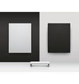 dark and light gallery interio vector image vector image