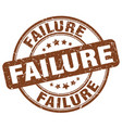 failure brown grunge stamp vector image vector image