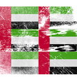 Flag of United Arab Emirates with old texture vector image