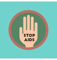 flat icon on stylish background Stop AIDS symbol vector image vector image