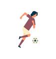 football player kick ball isolated sport vector image